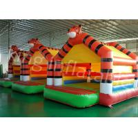 Buy cheap 0.55mm PVC Tarpaulin Tiger Inflatable Jumping Castle For Outdoor Entertainment from Wholesalers