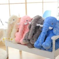 China Lovely Stuffed Elephant Plush Pillow Custom Color With Cotton Blanket on sale