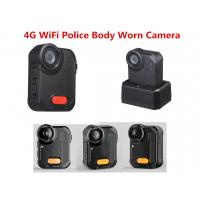 Buy cheap 4G WiFi Police Camera 160 Degree Wide Angle 1080P  IP65 Ambarella A12 Police Video Recrder product