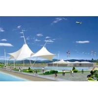 Buy cheap Sun Shelter Hotel Platform Steel Car Canopy Tents Membrane Structure Projects With PVDF Material Cover from Wholesalers