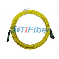 China 12 core MTP Fiber Optic Patch Cord with 3.0mm Round Fiber Cable on sale