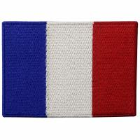 Buy cheap France Embroidery Iron On Flag Patches Washable Custom Cloth Patches product