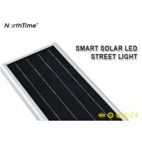 China Anti - Corrosion 60W Smart Control All In One LED Solar Street Light With Auto Lighting on sale
