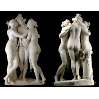 Buy cheap Stone hand carved statue Three graces lady marble sculpture for art gallery,stone carving supplier product