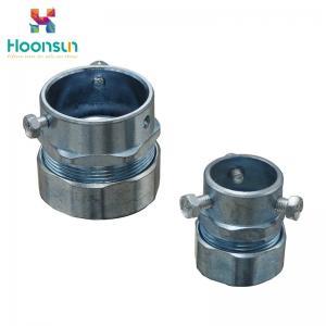 China Hose Clamp Type Flexible Conduit Connector / Zinc Die Casting Emt Connectors on sale
