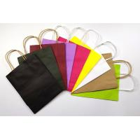 Buy cheap Recyclable Customized Kraft Paper Shopping Bags Small Size With Handles product