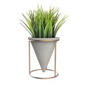 Buy cheap Funnel Shaped Handmake Concrete Flower Vase Custom With Metal Holder from wholesalers