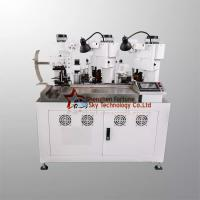 Buy cheap Fully Automatic Double Wires Cutting Stripping Three Terminals Crimping Machine product