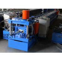 Buy cheap Galvanizned Steel Euro Style Roller Shutter Door Frame Roll Forming Machine 0.8-1.2mm Thickness product