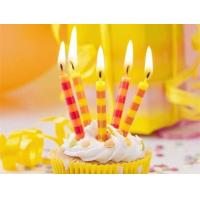Buy cheap Colorful Streak Printable Birthday Candles Long Burning Time No Dripping Unscented product