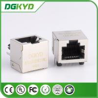 1x1 Right Angle 8p8c RJ45 shielded Connector without internal Transformer