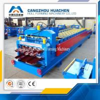 Buy cheap Aluminium Cold Roof Sheet Double Layer Roll Forming Machine 8-10 M/Min Working Speed product