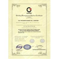 VG TECHNOLOGIES CO., LIMITED Certifications