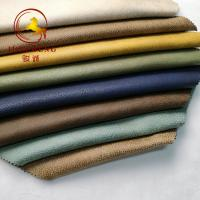 Buy cheap 100% Polyester Bronzed Foil Embossed Faux Suede Fabric product