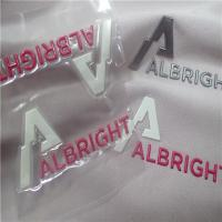 Buy cheap Eye Catching Reflective Embossed Heat Transfer Clothing Labels TPU With Hot Melt Glue product