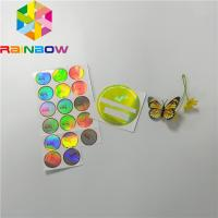 Buy cheap Adhesive Shrink Sleeve Printing Custom Reflection Rainbow Holographic Stickers Label product