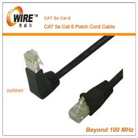 China Special Type 90 Degree Eblow Cat 5 Patch Cable , Indoor Ftp Long Patch Cables Easy To Use on sale