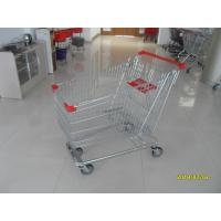Buy cheap Zinc Plated  Chromed Grocery Shopping Cart 240L Hand  With Metal Tube Base product