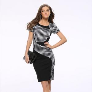 Buy cheap 20702 Bulk Wholesale Lady New Model Lattice Bandage Dresses In Cheap Price product