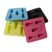 Buy cheap Colorful Silicone Kitchenware Bakeware, 5pc Shape Ice Cubes Tray Non Toxic OEM product