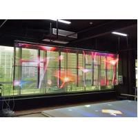 Buy cheap Flexible Led Curtain Display , 7.5mm X 8mm Transparent Led Video Wall product