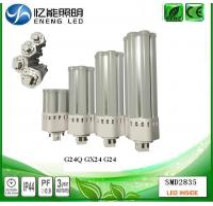 China high power 360 degree G24Q GX24 led pl light 20W 120LM/W G24Q led corn light lamp with 2835 led replace HPS MHL on sale