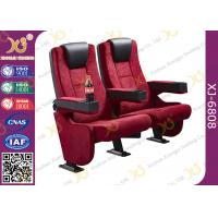 Buy cheap Rocker Back luxury Movie Theatre Auditorium Chair With Tablet Arms product