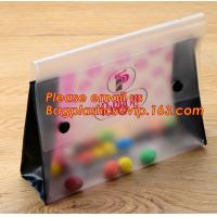 Buy cheap Office school filing supplies A4 plastic portable document file bag /envelope pocket file folder with button product