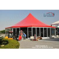 Buy cheap Aluminum High Peak Multi sides Luxury Wedding Tents With Glass ABS Walls from Wholesalers