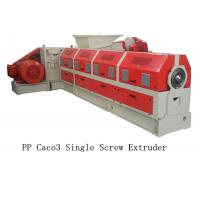 Buy cheap PP Caco3 Single Screw Extruder Making Machine Water Ring Pelletizing System product