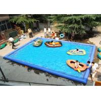 Buy cheap Outdoor Children Inflatable Swimming Pool Large Rectangle Blow Up Swimming Pools from wholesalers