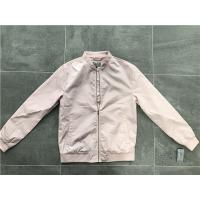 Buy cheap Menswear Zip PU Leather Coat Pink Polyester Nylon Bomber Jacket With Rib Detail TW69113 product