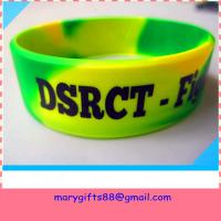 Buy cheap swirl color 1 inch debossed silicone bands product