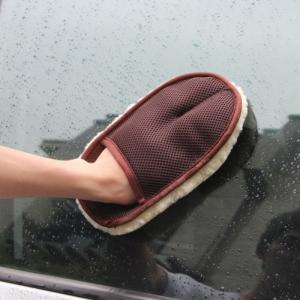 high quality car care sheepskin wool wash mitt