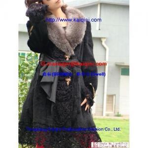 Buy cheap China Direct sell rabbit fur coat+silver fox fur collar apparel s-607-19 product