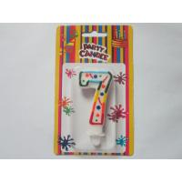 Quality Celebration Figure 7 Birthday Number Candles / Paraffin Numerical Birthday Candles SGS Approved for sale