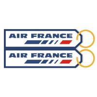 Air France Airline Embroidery Fabric Keychain Luggage Baggage Tag