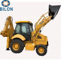 China 1.5 - 3 Ton Caterpillar Backhoe Loader With 1m3 Front Load Bucket Capacity on sale