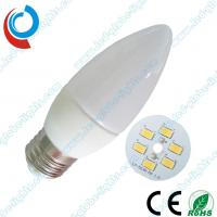 Buy cheap Custom E14 / E27 3W 240 ~ 300 lm Ceramic SMD LED Light Bulbs for Candles Droplight product