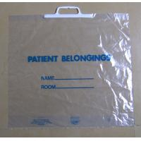 Buy cheap Clear Plastic Bags with Handles Square Bottom for Supermarket product