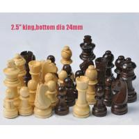 """Buy cheap 2.5"""" wood chess pieces 32pcs international wooden chess set good quality product"""