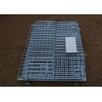 Quality Stackable Steel Galvanized Metal Wire Mesh Container For Storage for sale