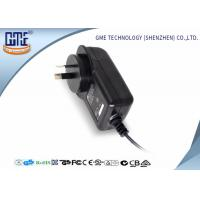 Buy cheap AC DC Wall Plug Adapter 12V 2A / Wall Mount Power Supply Black Color product
