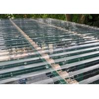 China Transparent Corrugated Polycarbonate Sheets For Roof Covering 0.8 - 1mm Thickness on sale
