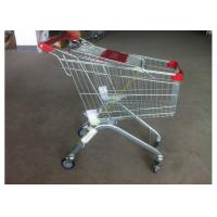 Buy cheap Supermarket Push Cart Retail Grocery Metal Wire Shopping Trolley Cart With Powder Coated from Wholesalers