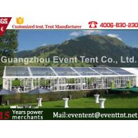 Buy cheap All Sizes Luxury Clear Span Tent Outside Customized With Simple Cassette Flooring from Wholesalers