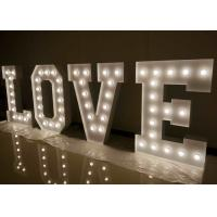 Buy cheap LED Large Love Letters For Wedding , Lit Marquee Letters With Light Bulbs from Wholesalers
