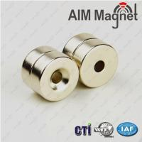 China Round Countersunk Ring Magnet 12mmx5mm Hole 4mm on sale