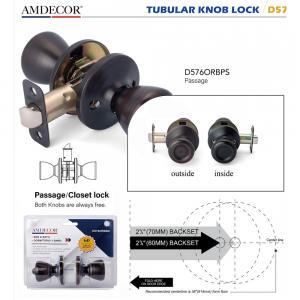 Brass Cylinder Interior Door Locks , Residential Door Locks 5 Pin Tumbler Mechanism.
