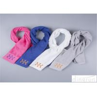 Different Color Sports Gym Towels For Athlete Custom Satin Border
